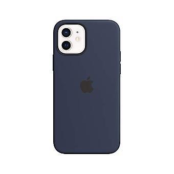 Custodia in silicone Apple con MagSafe (per iPhone 12 | 12 Pro) - Deep Navy