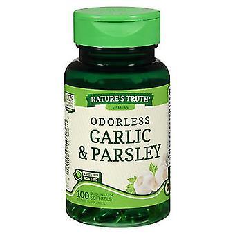 Nature's Truth Odorless Garlic & Parsley, 100 Caps