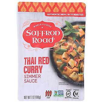 Safran Road Sauce Simmer Thai Red Cur, tilfælde af 8 X 7 Oz