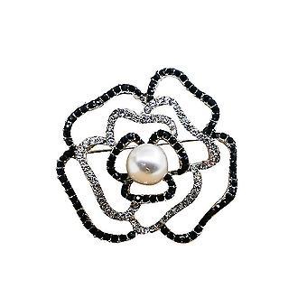 Tyylikkäät naiset rintakoru kukka corsage täysi timantti rintaneula pin