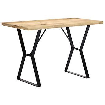 vidaXL طاولة الطعام 120 × 60 × 76 سم المانجو الخشب الصلب