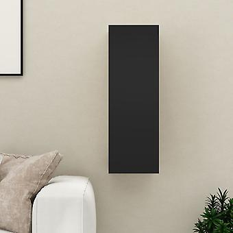 """vidaXL טלוויזיה ארון שחור 30,5x30x90 ס""""מ חלקיקים"""