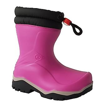 Dunlop Blizzard Girls Kids Warm Lined Wellington Boots Pink/black