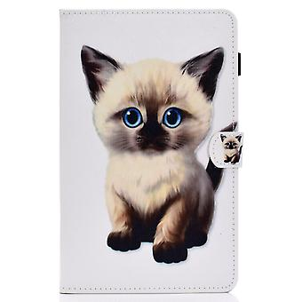 Case For Samsung Galaxy Tab A7 Cover With Auto Sleep/wake Pattern Magnetic - Cute Cat