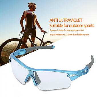 Wheel Up 108 Photochromic Cycling Goggles Universal Polarized Sports Glasses