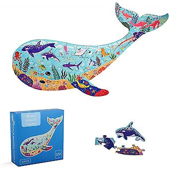 50 Pieces Whale Animal Shaped Ocean World Floor Jigsaw Puzzles Gift