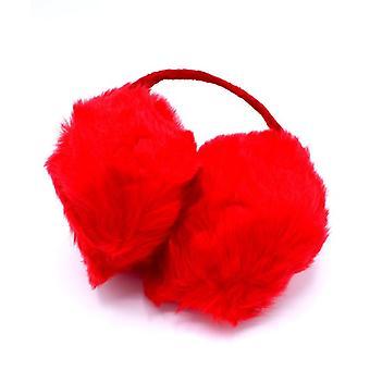 Röda bygel öronmuffar