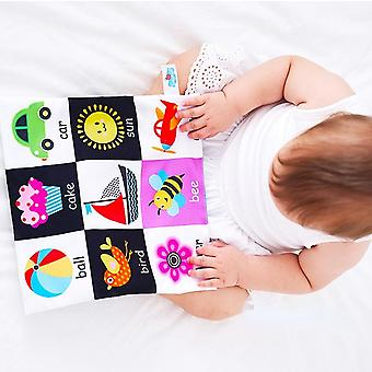 Soft Cloth Newborn Book, Children's Toys For 0-12 Months, Educational Learning, Cognitive Learning Objects, -06