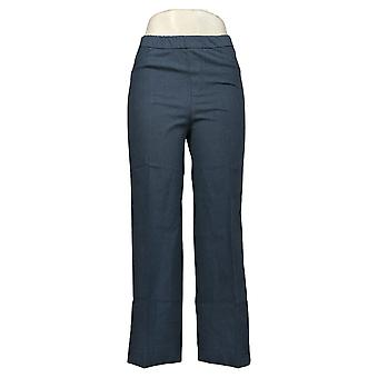 Isaac Mizrahi Live! Pantaloni donna Stretch Culotte Pantaloni Blu A376855