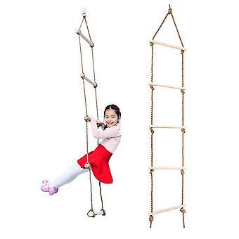 الاطفال خشبي حبل تسلق سلم لعبة