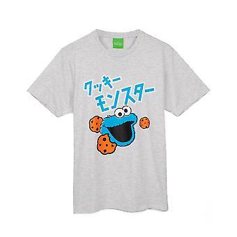 Sesame Street Mens Cookie Monster Pyjama Set