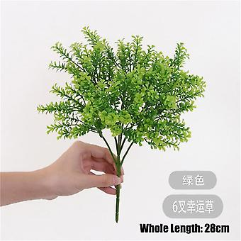 1Pc home decoration fake plants eucalyptus grass plastic ferns green leaves artificial flower wedding living room table decor