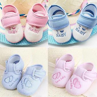 Puuvilla Liukumaton Vauvan taapero Sydämenmuotoiset Design Kengät