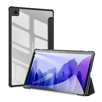 Case For Samsung Galaxy Tab A7 2020 10.4 (t500-t505),folio Trifold Stand Smart Cover With Detachable Slim Hard Shell Transparent Back Cover - Black