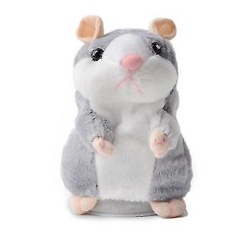 Stuffed doll intelligent walking nodding talking electric hamster toy gray sa8058