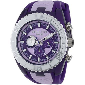 Mulco Herren Titans Wave Purple Zifferblatt Zifferblatt Uhr - MW5-1836-051