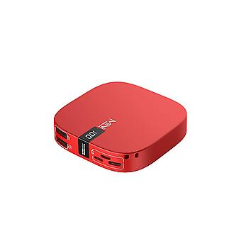 Power adapter charger accessories digital display large capacity mobile power phone mini portable charging pocket - red red 10000