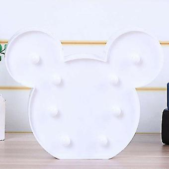 Night lights ambient lighting main white led mickey mouse head night light nursery bedroom decor light up lamp bday