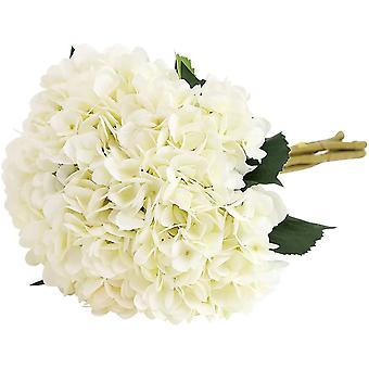 Künstliche Hortensie, 5 Stück einzelne Filament Stiel Hortensie Bouquet Anordnung (lila)