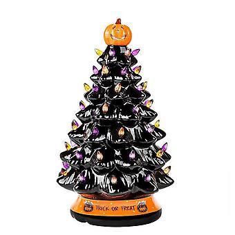 هالوين شجرة الديكور متعددة الألوان مضاءة هالوين شجرة المنزل حزب الحلي