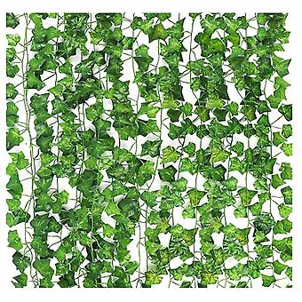 12pcs 2.1m Fake Ivy Leaves Fake Vines Artificial Hanging Plants