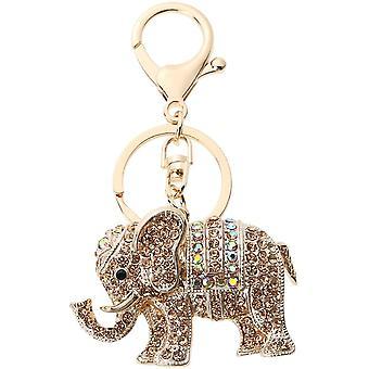 Schlüsselanhänger Kristall Elefant Schlüsselanhänger Damen Mode Handtasche Geldbörse Anhänger Schlüsselanhänger