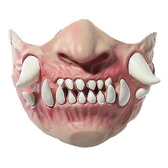 Masque d'Halloween Creepy Latex Half Face Horror Masques dentaires