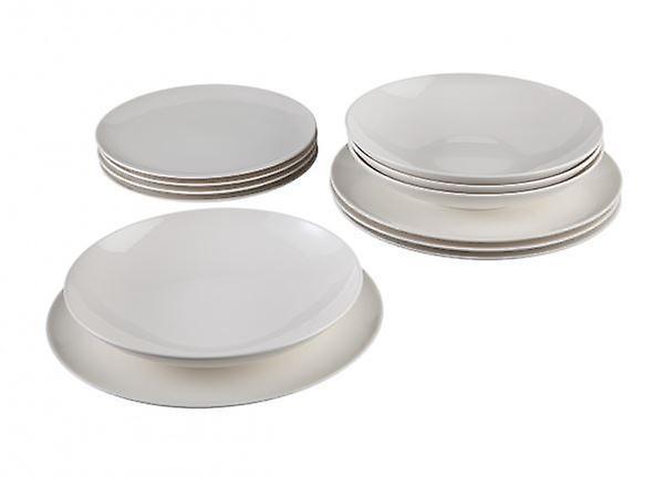Villeroy & Boch Vivo Voice 12pc Starter Set White Porcelain