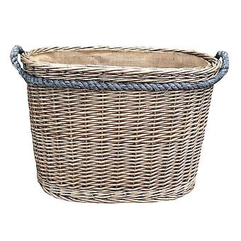 Medium Oval Rope Handled Log Basket