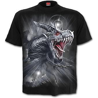 Spiral - dragon's cry - men's short sleeve t-shirt - black