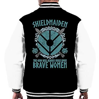 Wikinger Schild Jungfrau tapfere Frauen Männer Varsity Jacket