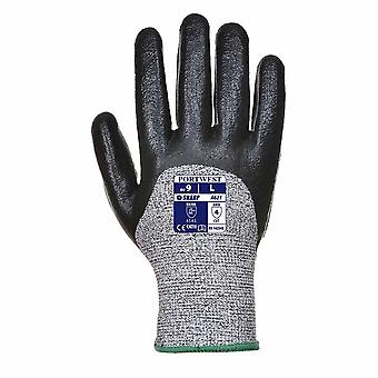 sUw - 3 Pair Pack Cut 5 Resistant 3/4 Nitrile Foam Hand Protection Glove
