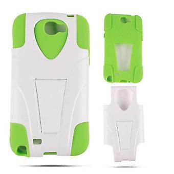 Jelly Case. Green Skin & White Snap with Stand