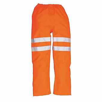 sUw - Hi-Vis sécurité Workwear Rail Track côté trafic pantalon