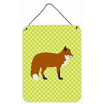 Carolines trésors BB7702DS1216 Red Fox vert mur ou porte accrocher impressions