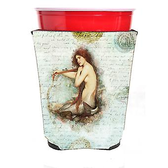 Carolines Treasures  SB3047RSC Mermaids and Mermen  Red Solo Cup Beverage Insula
