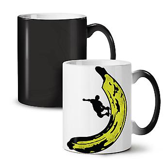 Sport Skateboard Trick NEW Black Colour Changing Tea Coffee Ceramic Mug 11 oz | Wellcoda