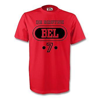 Kevin De Bruyne Belgien Bel-T-Shirt (rot) - Kids