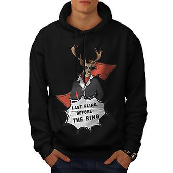 Last Fling Party Stag Men BlackHoodie | Wellcoda