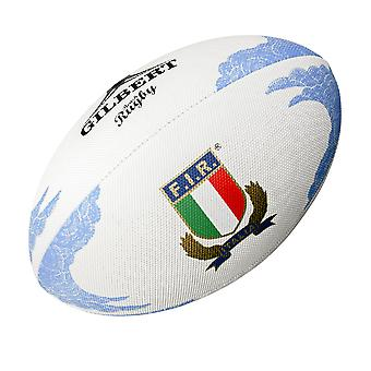 GILBERT Italia (italia) strand rugby ball [hvit]