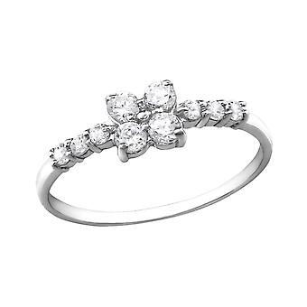 Sparkling - 925 Sterling Silver Jewelled Rings - W30543X