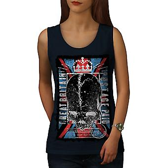 Great Britain Queen Women NavyTank Top | Wellcoda