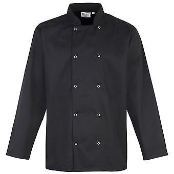 Premier con borchie anteriore manica lunga giacca di chef / Chefswear