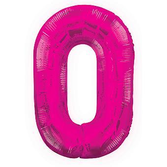 Unieke partij 34 Inch roze Glitz nummer ballon (0-9)