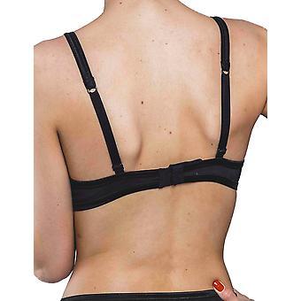 Nouveau Nuage Pur noir Non câblé complet Triangle soutien-gorge maison Lejaby 5537M-04 féminines