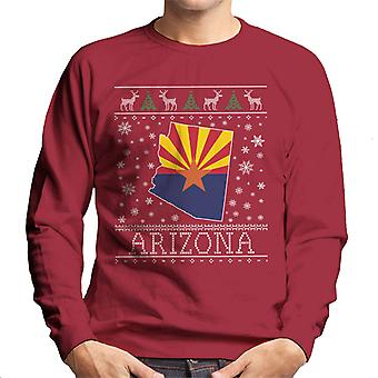 Arizona Weihnachten stricken Muster Herren Sweatshirt