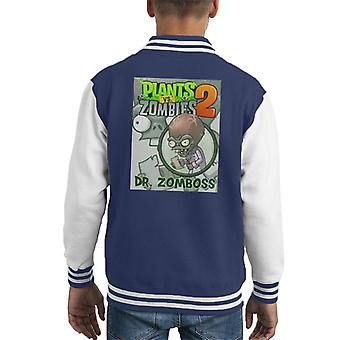 Plants Vs Zombies Dr Zomboss Kid's Varsity Jacket