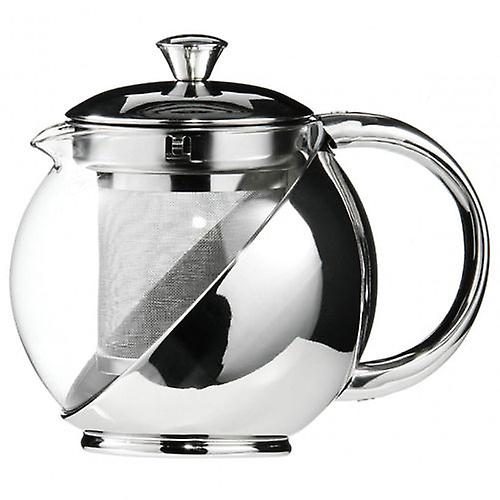 Kabalo 750ml Modern Sylish Stainless Steel & Glass Teapot WITH LOOSE TEA LEAF INFUSER