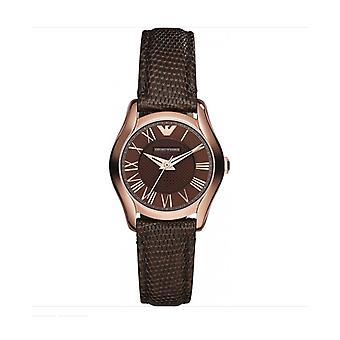 Emporio Armani Damenuhr AR1714 RRP £229 braune Rose Gold UK Garantie Verkauf Uhren