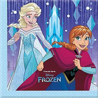 Servilletas servilletas congelada los niños de los copos de nieve partido 20 unidades de cumpleaños 33x33cm